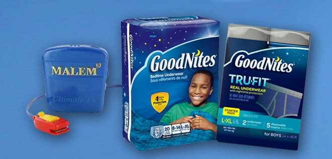 Goodnites and Bedwetting Alarm