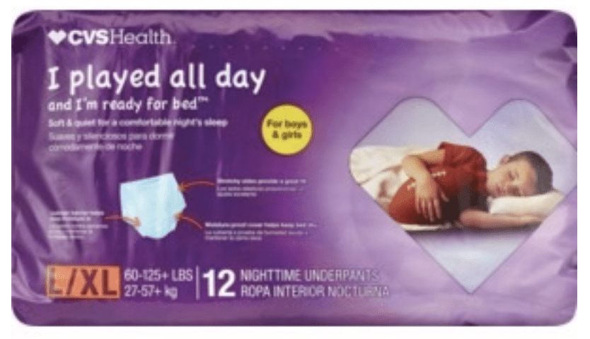 CVS Nighttime Bedwetting Underpants
